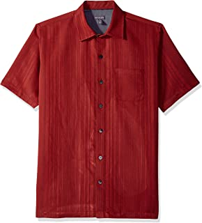 mens short sleeve straight hem shirts