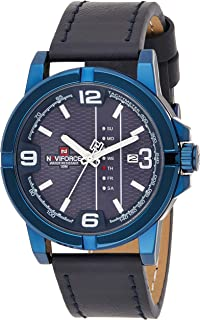 Naviforce Men's Blue Dial PU leather Analogue Classic Watch - NF9177-BEWBE