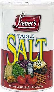 Lieber's Table Salt, Kosher For Passover, 26 Ounce Canister (Single)