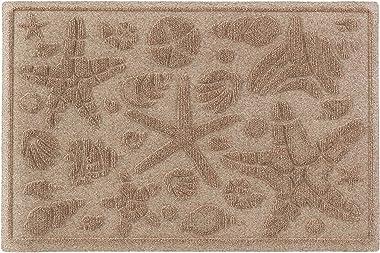 """Aqua Shield Beachcomber Doormat, 2"""" x 3"""", Camel"""