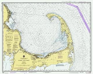 Map - Cape Cod Bay, 1982 Nautical NOAA Chart - Massachusetts (MA) - Vintage Wall Art - 55in x 44in