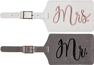 Mr. and Mrs. Honeymoon Wedding Bridal Shower Gift Cute Luggage Tag Travel Tags (version 1)