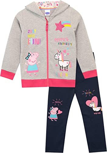Peppa Pig Girls' Unicorns Hoody and Leggings Set