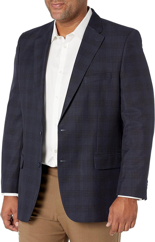 Haggar Men's Tonal Plaid Classic Fit Sport Coat