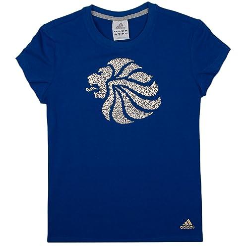 Women/'s Team GB Small TEAM GB Logo Polo Power Blue//White