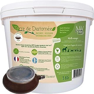 l'herbe Haute ® Terre de Diatomée Blanche Alimentaire - 5 kg Seau avec souffleuse - Utilisable en Agriculture Biologique -...