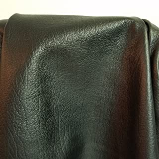BLACK ELITE NAKED COW HIDE LARGE LEATHER SKINS 20-23 SQ.FT. 2.5 OZ. UPHOLSTERY BOOK CHAP NAT LEATHERS (20-23 SQ.FT.) 32