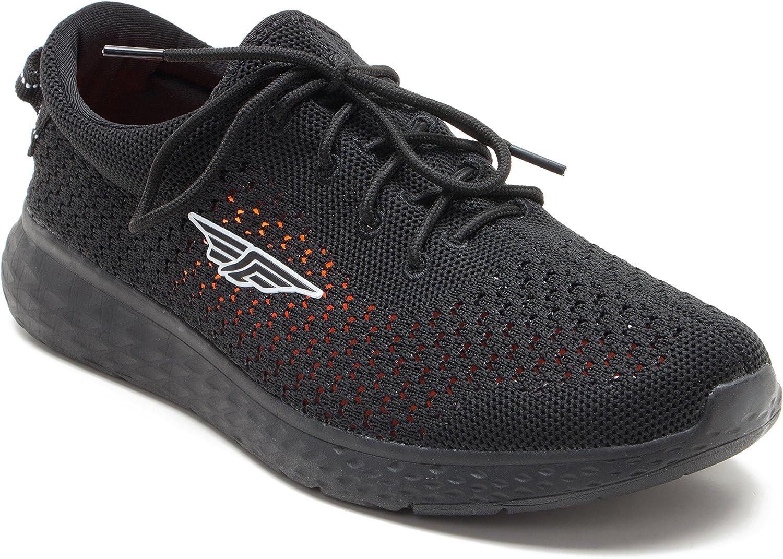 Red Tape Mens Athleisure Sports Range Black Walking shoes