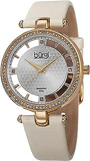 Burgi Casual Watch Analog Display Swiss Quartz for Women BUR104WTG