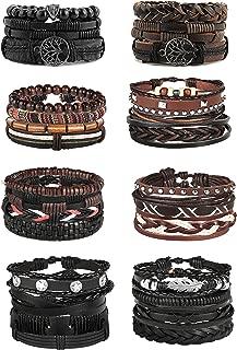 Best cheap mens leather bracelets Reviews