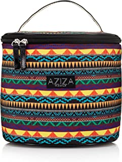 Aziza Tribal Print Makeup Organizer | Fashionable Cosmetics Bag | Multi-functional Cute Big Makeup Bag for Storage