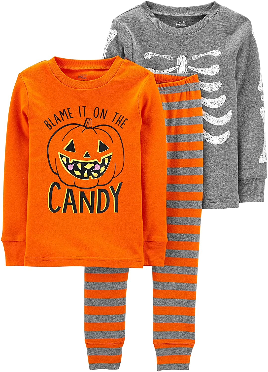 Simple Joys by Carter's Baby and Toddler 3-Piece Snug-Fit Cotton Halloween Pajama Set