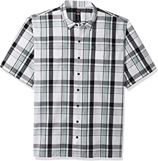 Men's Yarn Dyed Short Sleeve Camp Shirt Big-Tall