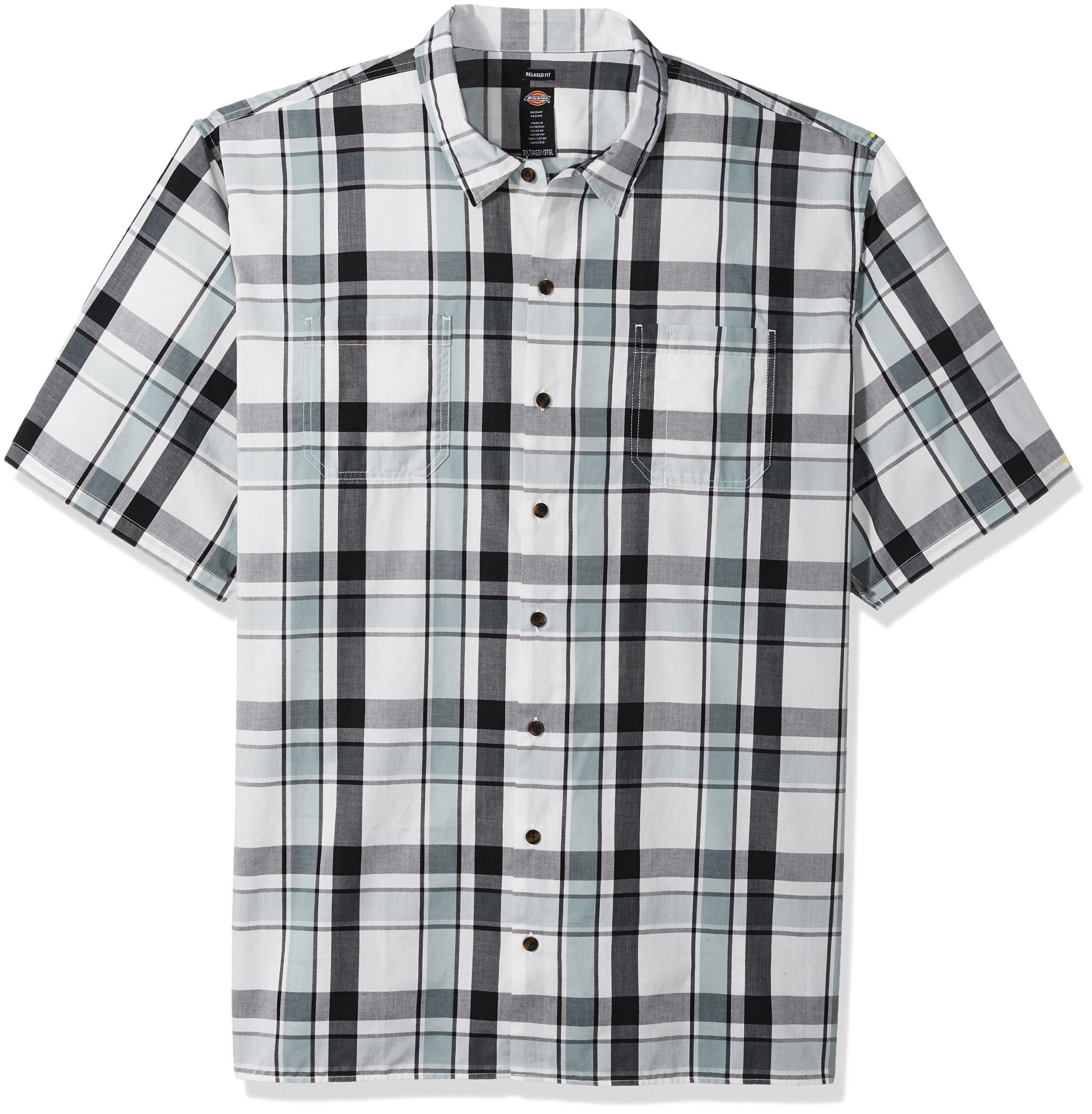 Zantt Mens Casual Floral Printing Short Sleeve Stylish Dress Shirt Top