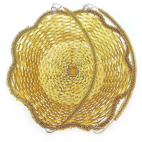 Steel Wire Basket for Gift/Steel Basket for Fruits (Big Gold)