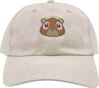 Kanye West Bear Hat Dad Hat Strap Back Costume Head Men Women New (Tan)