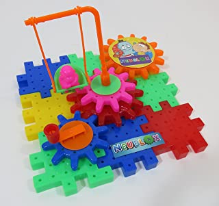 Toy Gears Building Set – 81 pcs with Interlocking Blocks – Learning and Educational for Boys & Girls, Age 3 Years +