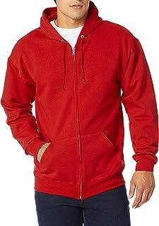 Jerzees Mens True Red Adult Full Zip Hooded Sweatshirt