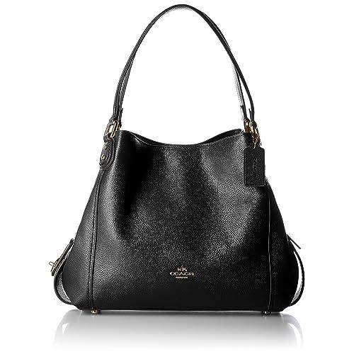 68b2ce52140 EDIE SHOULDER BAG 3 IN BLACK LEATHER, Womens.