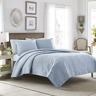 Laura Ashley Felicity Quilt Set, Breeze Blue, King