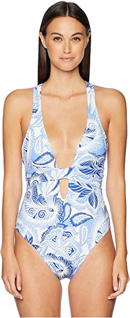 Paisley Print Wrap One-Piece