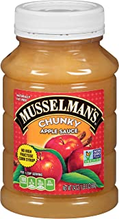 Musselman's Chunky Apple Sauce Plastic Jars, 24 Ounce (Pack of 12)