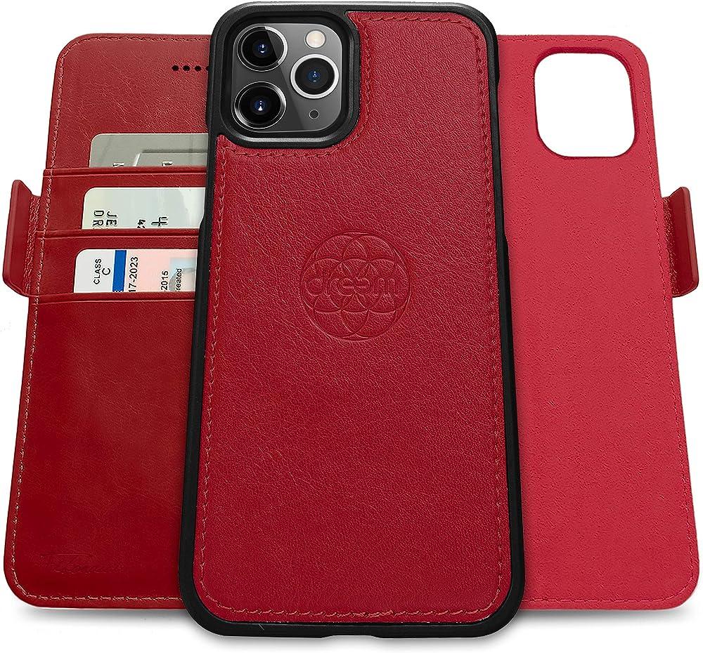 Dreem portafoglio porta carte di credito con protezione rfid custodia per iphone xs max in pelle Fib.iP.XM_Red