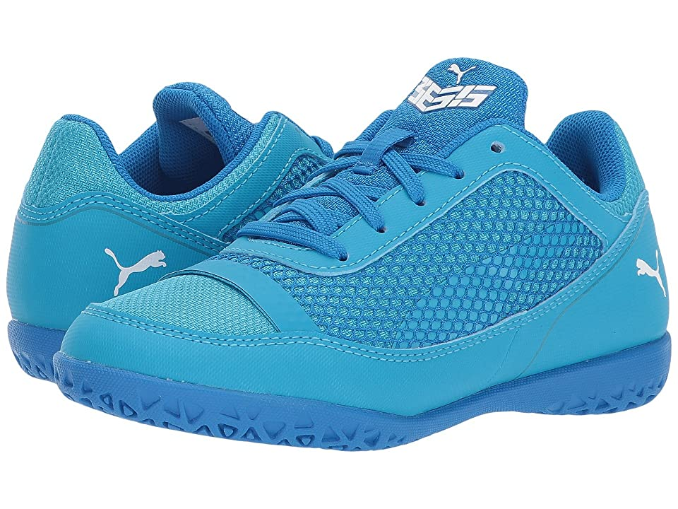 Puma Kids 365 Netfit CT Soccer (Little Kid/Big Kid) (Electric Blue Lemonade/Puma White/Hawaiian Ocean) Kids Shoes