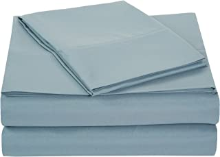 AmazonBasics Light-Weight Microfiber Sheet Set - Twin XL, Spa Blue