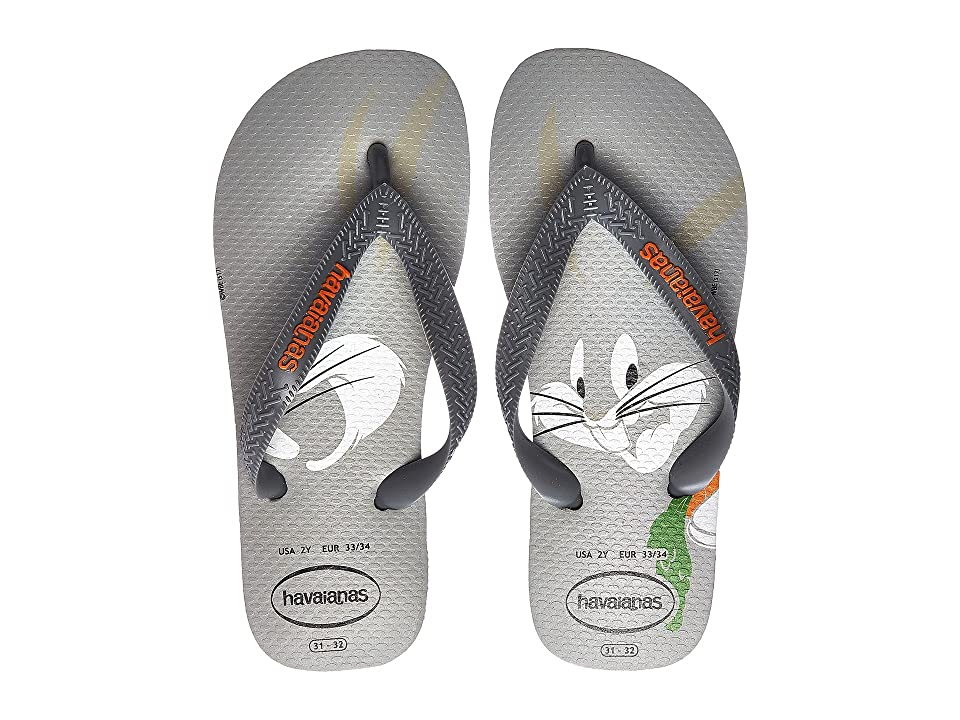 Havaianas Kids Looney Tunes Sandal (Toddler/Little Kid/Big Kid) (Ice Grey) Kids Shoes