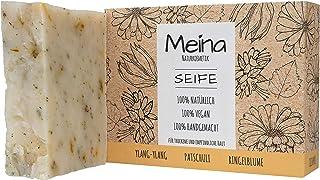 Meina Naturkosmetik - Seife mit Patschuli und Ylang-Ylang 1 x 100 g 100% natürliche, vegane, handgemachte Bio Naturseife - Körperpflege und Gesichtspflege