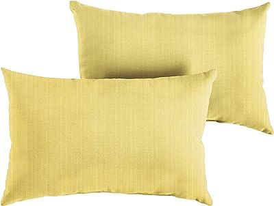 Amazon Com Mozaic Company Amps114542 Indoor Outdoor Sunbrella Lumbar Pillows Set Of 2 12x18 Canvas Natural Ivory Canvas Taupe Garden Outdoor