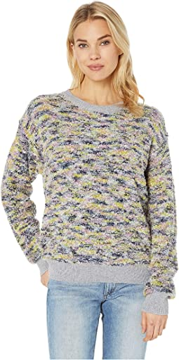 Long Sleeve Pullover Boucle Sweater