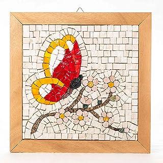Kit Mosaico fai da te FARFALLA - Tessere mosaico marmo e vetri di Murano-Venezia - hobby creativi per adulti - Regali orig...