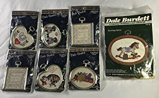 Lot of 7 Counted Cross Stitch Kits framed Vintage Dale Burdett New Sealed 1980's