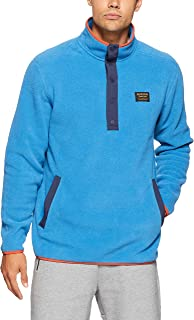 Burton Snowboards Men's Hearth Fleece Pullover Shirt, Vallarta Blue, Small