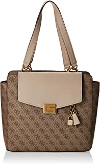GUESS Valy Status Carryall, Satchel Bags Woman, Milk, One Size