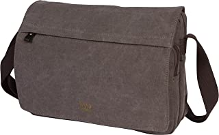 Canvas Messenger Bag For Tablets Leather Trims Size Small TRP0241