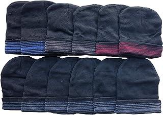 Frozen Folk 12 Pack Beanie Winter Hats Men Women, Ribbed, Cuff Skullcap Warm Thermal Hat