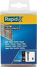 Rapid Nagel type 8, 15 mm duikkopnagels 18 Ga, 5.700 stk. plastic doos, voor nietmachine, pneumatische nagel en elektronic...