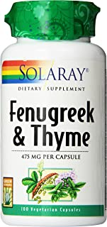 Solaray Fenugreek and Thyme Capsules, 475 mg, 100 Count
