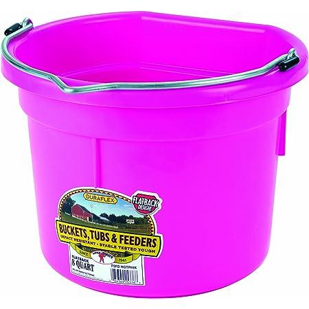 Details about  /Little Giant 20 Quart Plastic Flat Back Livestock Feed Bucket 2 Pack Black