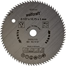 wolfcraft 6255000, Handcirkelzaagblad CV, Serie Blauw, 80 Tanden, Ø 127 mm, Zilver