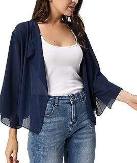 Women Summer Cardigans Chiffon Loose Kimono Cardigan Capes Bolero Shrug S-XXL
