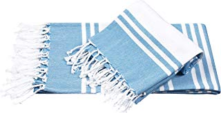 Peshtemal Turkish Super Soft, Absorbent, Oversized Bath Towel, Throw, Blanket for Chair, Couch, Picnic, Beach, Yoga, Pilates, Everyday Use, Light Weight Easy-to-Carry, 36 x 71 2Pack, Royal Blue