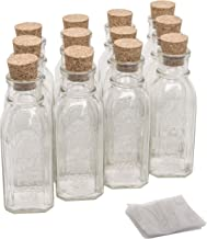 North Mountain Supply 8 Ounce Glass Muth Honey Jars - with Corks & Shrink Bands - Case of 12