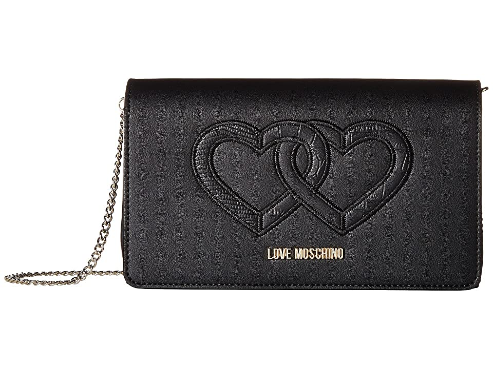 LOVE Moschino - LOVE Moschino Crossbody Bag w/ Thin Chain Strap
