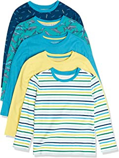 Amazon Essentials 2 Pack Long Sleeve Tees Fashion-t-Shirts Niños (Pack de 2)