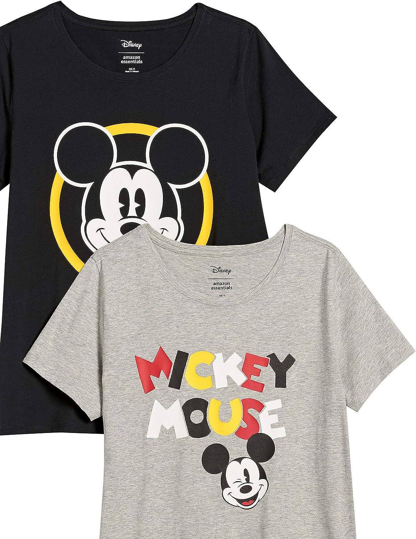 Amazon Essentials Women's Disney Star Wars Marvel Short-Sleeve Crew-Neck T-Shirts