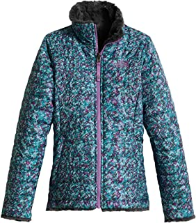 Girl's Reversible Mossbud Swirl Jacket - Algiers Blue Sponge Print - L (Past Season)